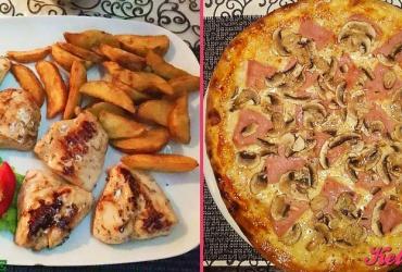 30% попуст на ГОЛЕМА ПИЦА КАПРИЧИОЗА ИЛИ ПИЛЕШКИ СТЕК по избор во италијанскиот ресторан STAZIONE во вредност од 240ден. за само 169ден.